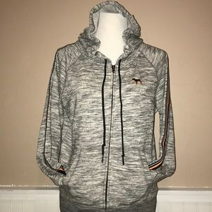 Victoria secret pink full zip gray hoodie
